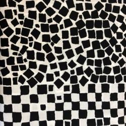 Tela KAFFE FASSETT-cuadraditos negros/fondo blanco