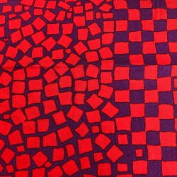 Tela KAFFE FASSETT-cuadros rojos