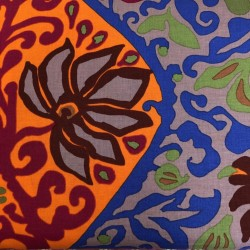 Tela KAFFE FASSETT-dibujos naranja/azul/lila