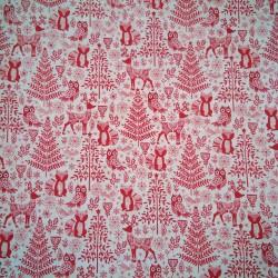 Tela Navidad animales/arboles