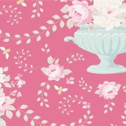 Tela Tilda Happy Campers Flowerbees rosa