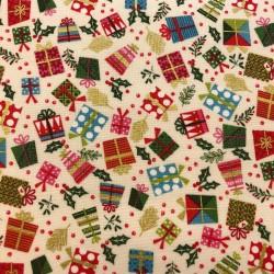 Tela Navidad Let is snow