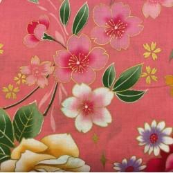 Japanese Flowers Pink C11 Kokka