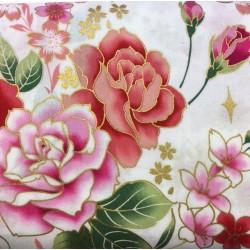 Japanese Flowers White D01 Kokka