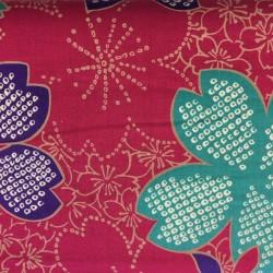 Large Sakura Flowers on purple 1B Kokka